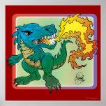 Dragon Art inspired by little t by Scott Rosema Print
