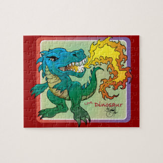 Dragon Art inspired by little t by Scott Rosema Jigsaw Puzzles