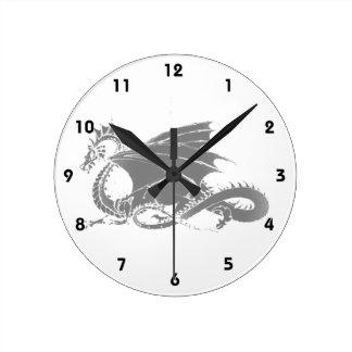 Dragon Art Round Clock