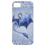 """""""Dragón arte azul de la fantasía del invierno"""" iPhone 5 Case-Mate Fundas"""