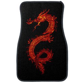 Dragón asiático, chino, mítico, año del dragón alfombrilla de auto
