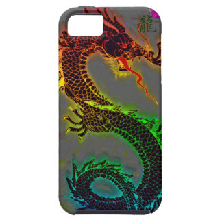 Dragón asiático chino mítico año del dragón iPhone 5 Case-Mate protectores