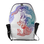 Dragón asiático del arte bolsa messenger