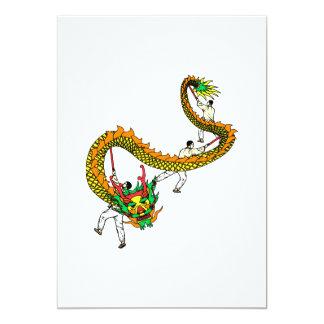 Dragón asiático del desfile comunicados personales