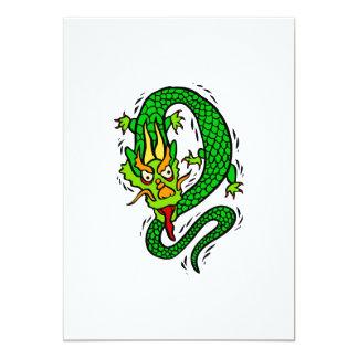 """Dragón asiático invitación 5"""" x 7"""""""
