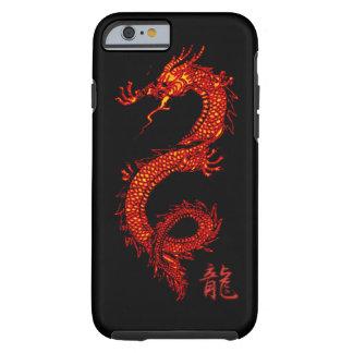 Dragón asiático mítico, año del diseño del dragón funda de iPhone 6 tough