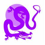 Dragón asiático púrpura esculturas fotográficas