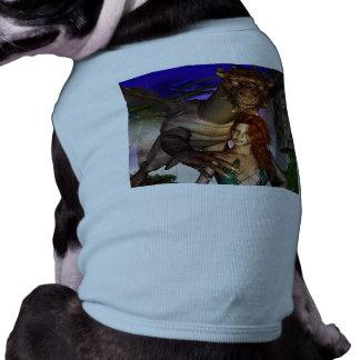 Dragón asombroso con el duende ropa de perros