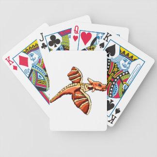 Dragón áspero del pixel barajas de cartas