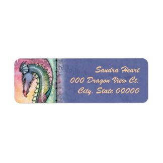 Dragon at Dusk Fantasy Art Return Address Labels