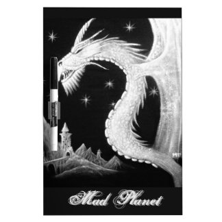 Dragon at Night Painting Dry-Erase Board