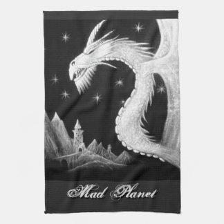 Dragon at Night Painting Hand Towels