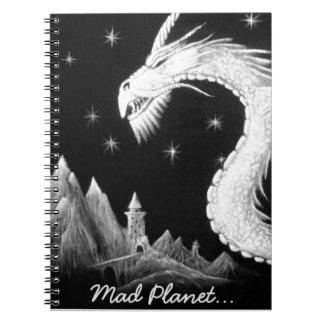 Dragon at Night Painting Notebook