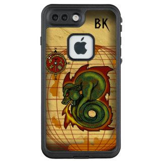 DRAGON ATLAS MONOGRAMED by Slipperywindow LifeProof FRĒ iPhone 7 Plus Case
