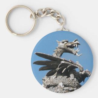 Dragón, ayuntamiento Cardiff, País de Gales, Reino Llavero Redondo Tipo Pin