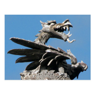 Dragón, ayuntamiento Cardiff, País de Gales, Reino Tarjeta Postal