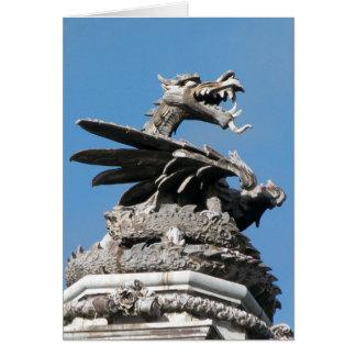 Dragón, ayuntamiento, Cardiff, País de Gales, Tarjeta De Felicitación