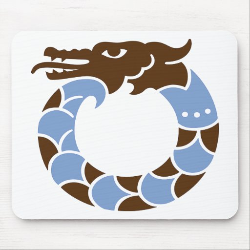 Dragón azul alfombrilla de raton