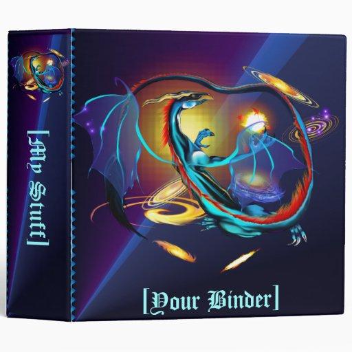 "Dragón azul binder_2_front.v4 de la galaxia carpeta 2"""
