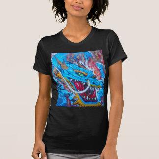 Dragón azul camisas