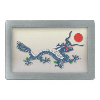 Dragón azul chino - hebilla 1 hebillas cinturón rectangulares
