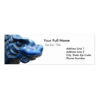 Dragón azul - cita de Nietzsche Tarjetas De Negocios