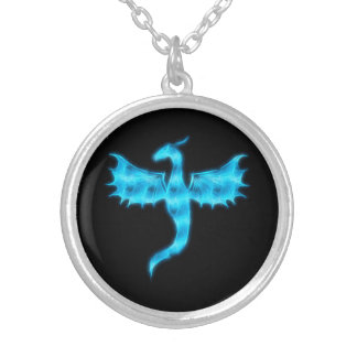 Dragón azul colgante redondo
