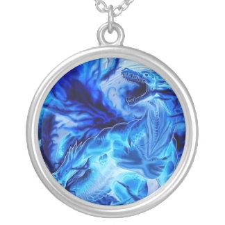 dragón azul colgantes
