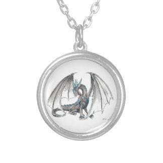 Dragón azul grimpola personalizada