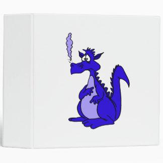 Dragón azul con humo