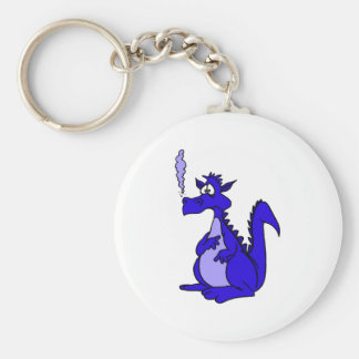 Dragón azul con humo llavero