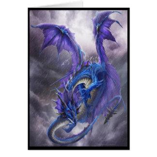 Dragón azul de la tormenta tarjeta de felicitación