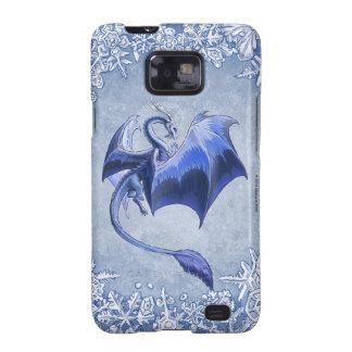 Dragón azul del arte de la naturaleza de la galaxy s2 carcasa
