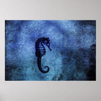 Dragón azul del mar póster