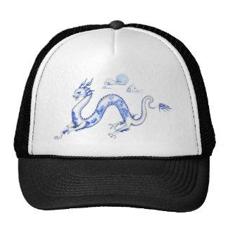 Dragón azul del sauce con BG blanca Gorro De Camionero