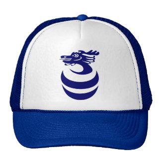 Dragón azul en gorra del huevo