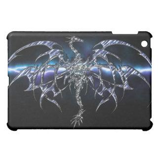 Dragón azul en la cubierta del iPad del cielo del