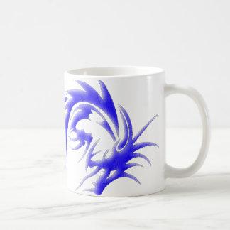 Dragón azul gigante taza de café