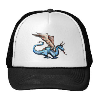 dragón azul gorro de camionero