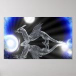 Dragón azul impresiones