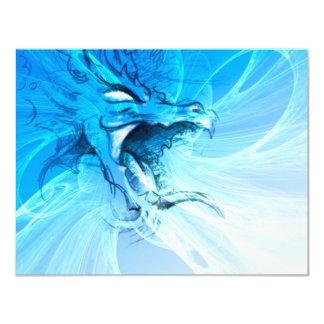 """Dragón azul invitación 4.25"""" x 5.5"""""""