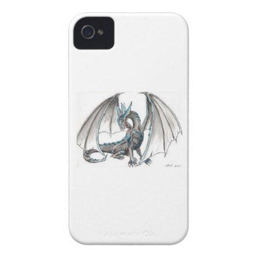 Dragón azul iPhone 4 Case-Mate funda