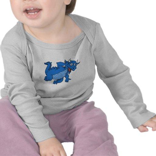 Dragón azul lindo camiseta