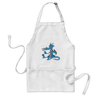 Dragón azul lindo delantal