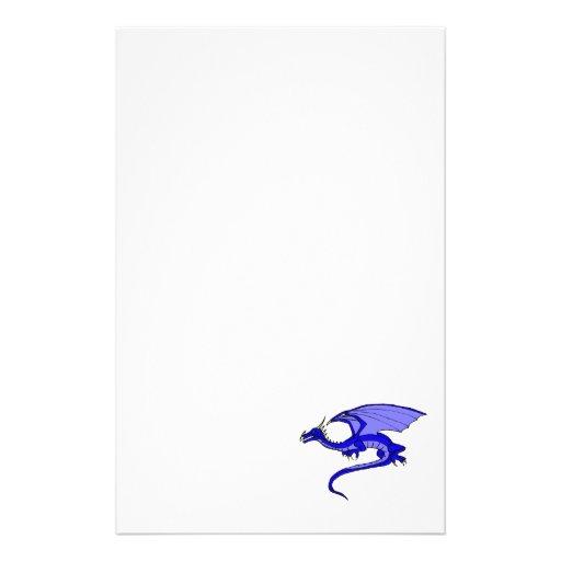 Dragón azul papelería personalizada
