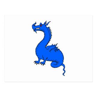 Dragón azul postal