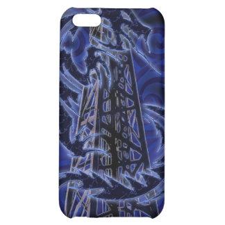 Dragón azul que envuelve alrededor de la torre de