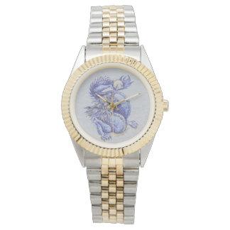 Dragón azul reloj