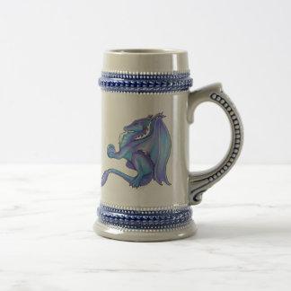 Dragón azul Stein Jarra De Cerveza