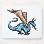 dragón azul tapetes de raton